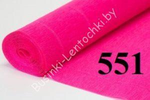 Бумага гофрированная цвет 551 фуксия
