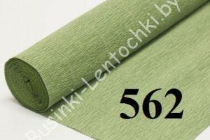 """Бумага гофрированная цвет 562 """"фисташковый"""""""
