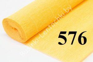 Бумага гофрированная цвет 576 светло-оранжевый