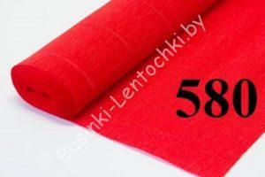 Бумага гофрированная цвет 580 красный