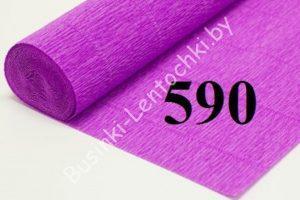 Бумага гофрированная цвет 590 лиловый