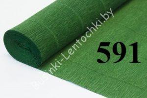 """Бумага гофрированная цвет 591 зеленый """"травяной"""""""
