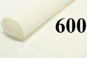 Бумага гофрированная цвет 600 белый