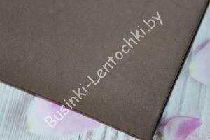 Фоамиран (191) тёмно-коричневый (0,8-1мм)