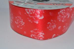Лента (5см) бумажная водонепроницаемая красная с рисунком