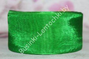 Лента (5см) зелёная капроновая