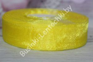 Лента (2,5см) капроновая жёлтая