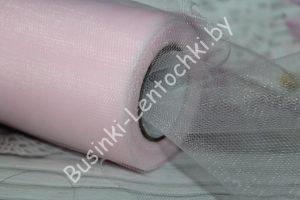 Фатин (15см) светло-розовый
