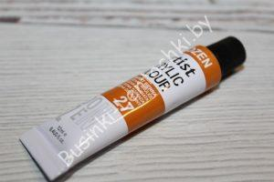 Краска (№27) акриловая оранжевая DOZEN