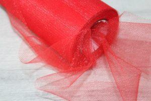 Фатин (15см) красный