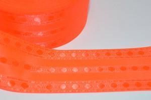Лента (3,9см) декоративная ярко-оранжевая