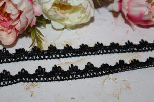 Кружево (1,5см) вязаное чёрное №2