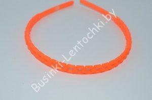 """Обруч (0,8см) каучуковый """"квадратик"""" оранжевый"""