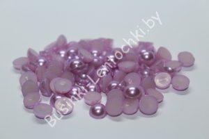Полубусины (6-8мм) светло-фиолетовые