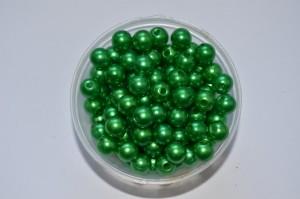 Бусины (8мм) зелёные