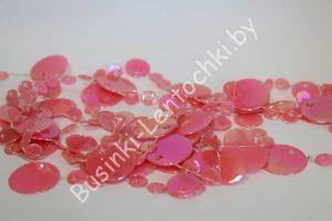 Бусины на леске декоративные розовые