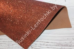 Фоамиран (2мм) глиттерный коричневый