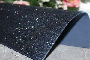 Фоамиран (2мм) глиттерный тёмно-синий