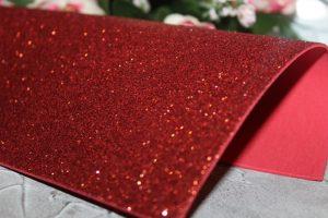 Фоамиран (2мм) глиттерный красный