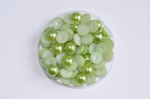 Полубусины (6-10мм) оливковые