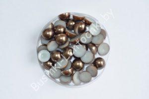 Полубусины (6-10мм) шоколадные