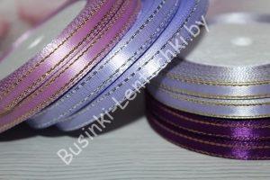 Лента (0,6мм) атласная с люрексом светло-фиолетовая (бобина)