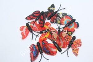 Бабочки (5см) пластиковые красные