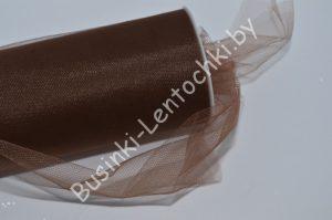 Фатин (15см) коричневый