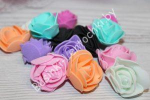 Головки (3см) роз из фоамирана
