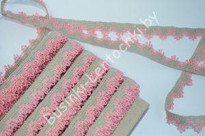 Тесьма (1,5см) вязаная розовая