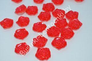 Розочка (18мм) перламутровая красная