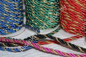 Шнуры (6мм) декоративные двухцветные