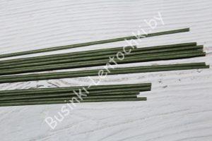 Стержни (36см) флористические зелёные тейпированные