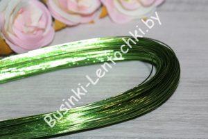 Проволока (1мм) флористическая салатовая (80см)