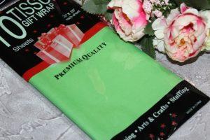 Бумага (50×66см)  тишью светло-зелёная