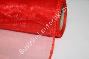 Органза (40см) флористическая красная