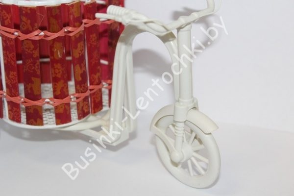 "Кашпо ""велосипед с сердечком"""