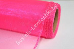 Органза (40см) флористическая ярко-розовая