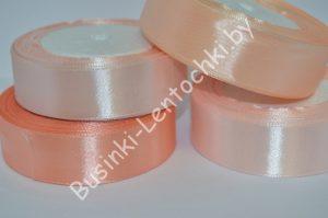 Лента (2,5см) атласная светло-персиковая