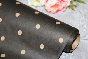 Крафт-бумага (70×50м) в горошек черная