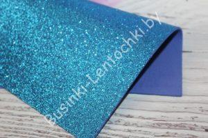 Фоамиран (2мм) глиттерный светло-синий