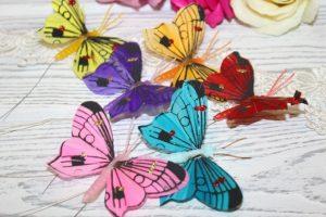 Бабочки (6см) на проволоке