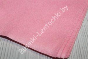Фетр (1мм) розовый (20×30см) мягкий