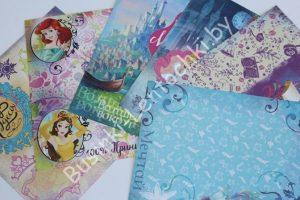 """Бумага двухсторонняя """"100% принцесса"""" (14,5×14,5см)"""