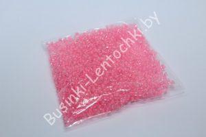 Бисер (20 гр.) 12/0 прозрачный с розовым отверстием