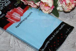 Бумага (50×66см) тишью голубая