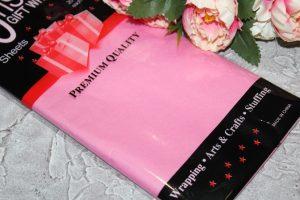 Бумага (50×66см) тишью розовая