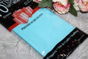 Бумага (50×66см) тишью ярко-голубая