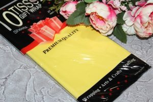Бумага (50×66см) тишью жёлтая