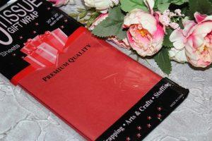 Бумага (50×66см) тишью красная